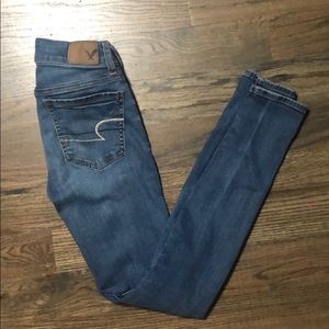 "American Eagle jegging Jeans. 0 long. 30"" inseam."